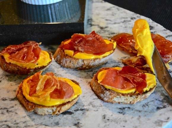 Caramelized Maple Butternut Squash and Prosciutto Crostini's