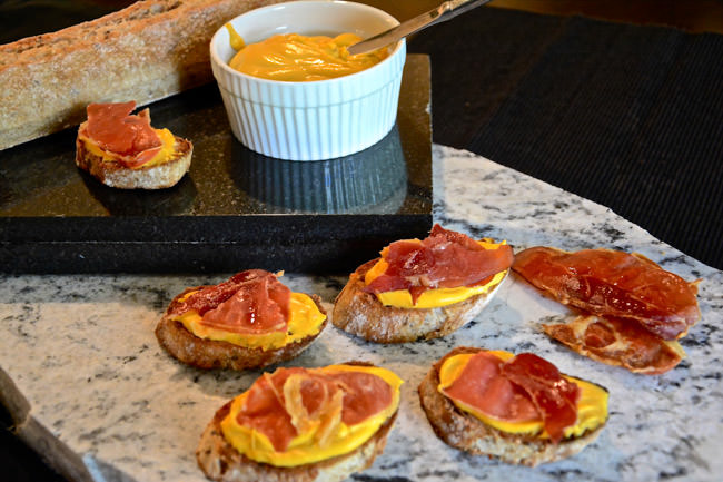 Caramelized Maple Butternut Squash and Prosciutto Crostini's