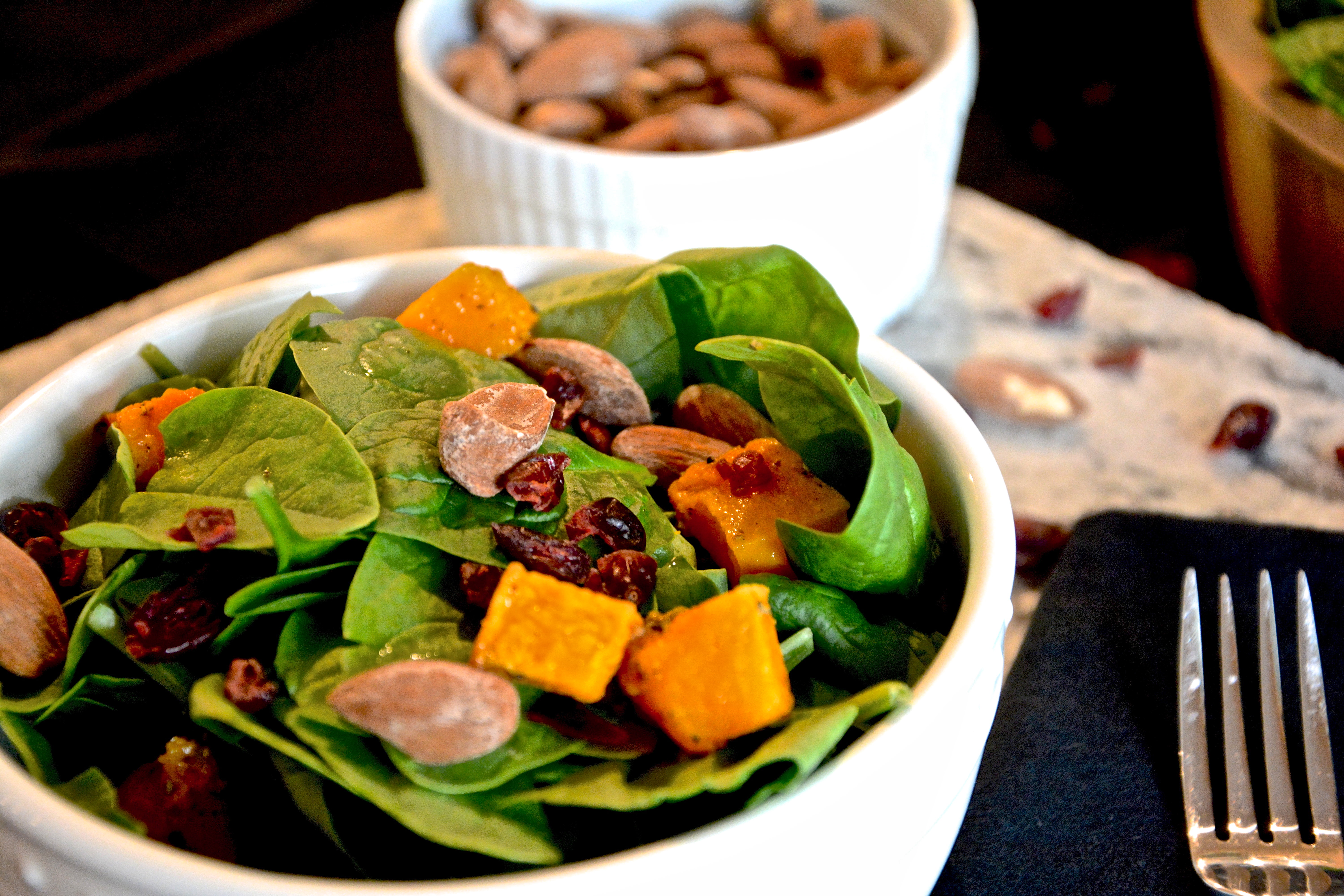 Autumn Butternut Squash Salad with Maple Balsamic Dressing