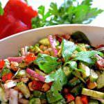 Cucumber & Garbanzo Balsamic Salad