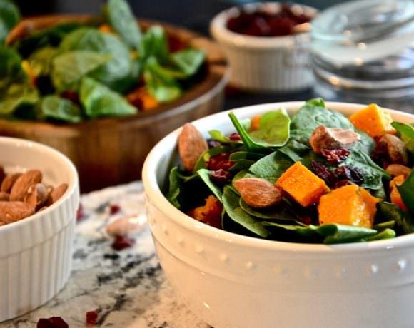 Autumn Butternut Squash Salad with Maple Balsamic Vinaigrette