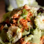 Buffalo-Chicken-Salad-with-Goat-Cheese-Croutons-close-up smaller size