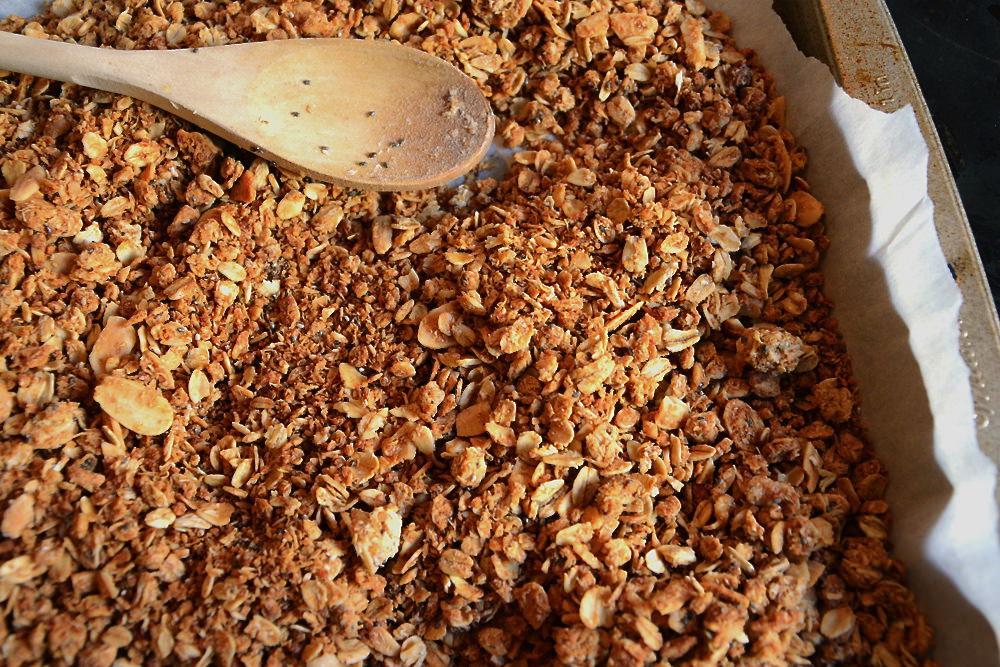 Maple Coconut Butter Quinoa Granola