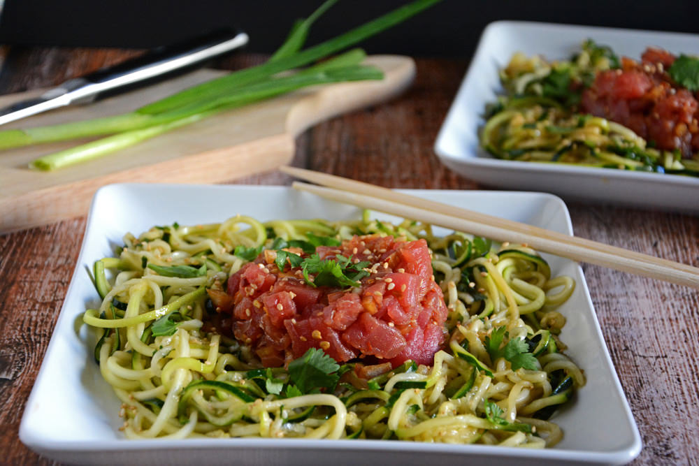 Ahi Poke with Chilled Sesame Noodles