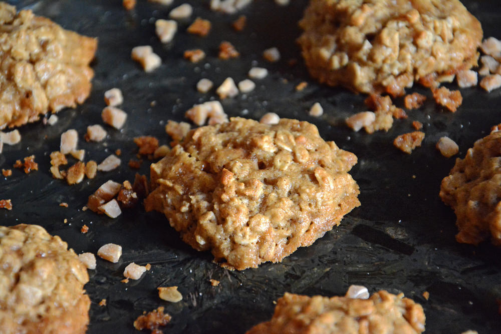 Madeover Coconut and Toffee Oatmeal Cookies