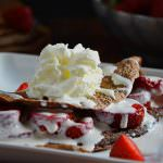 Skinny Strawberries and Cream Chocolate Crepes