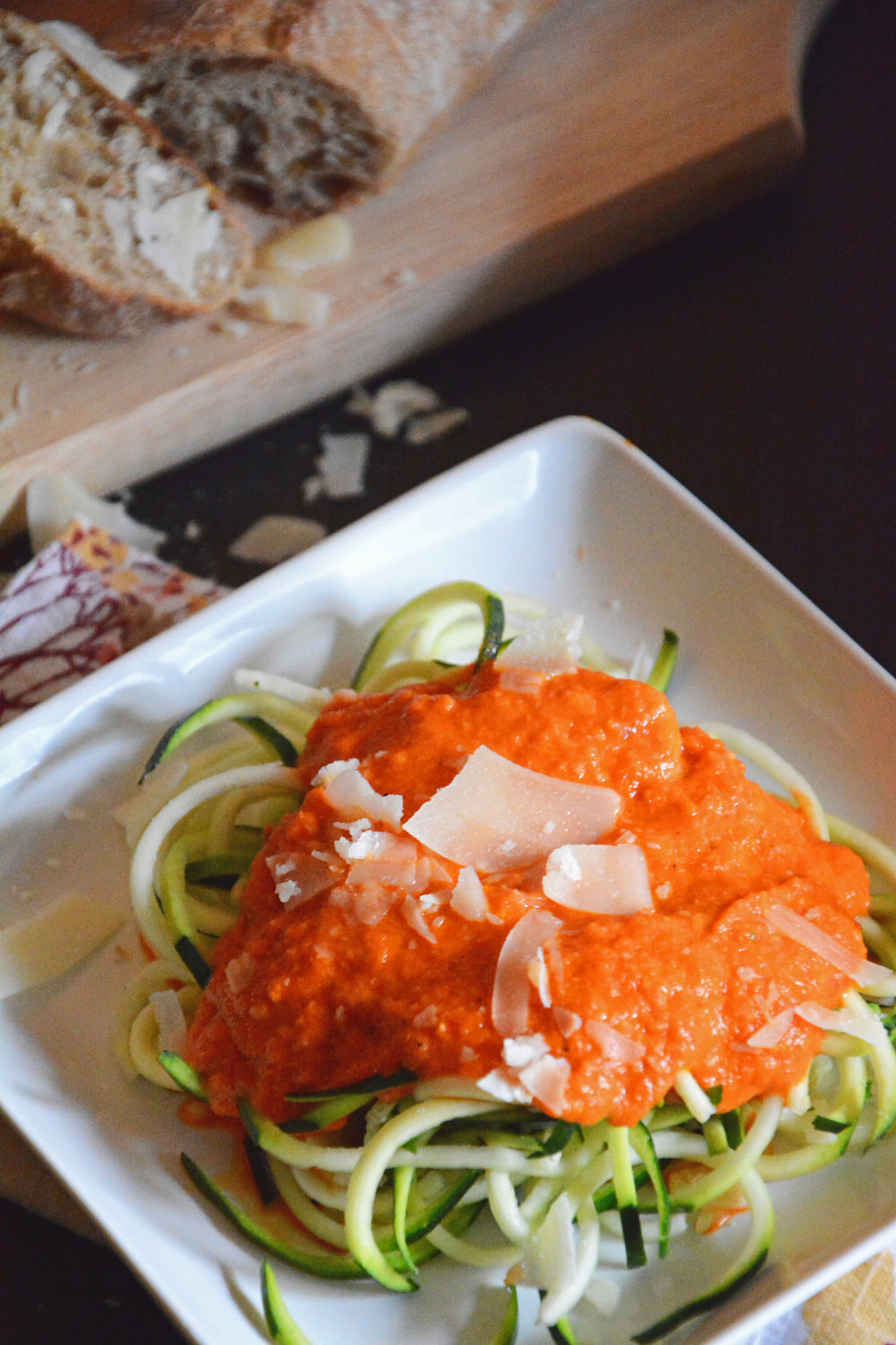 Roasted-Red-Pepper-Alfredo-with-Zucchini-Noodles