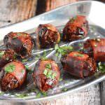 Chorizo Stuffed Prosciutto Wrapped Dates