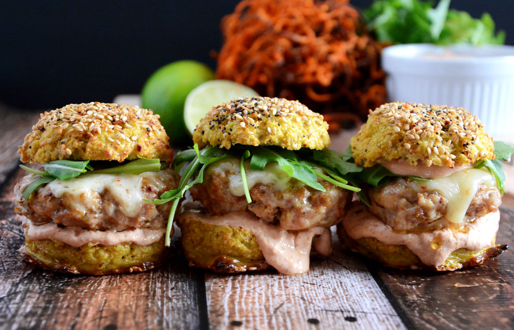 Chipotle Chicken and Andouille Sausage Sliders are an easy, healthy ...