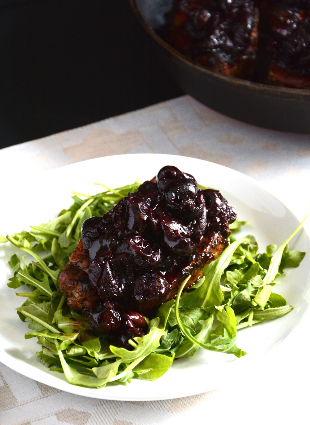 Sage Pork with Cherry Balsamic Glaze | The Housewife in Training Files
