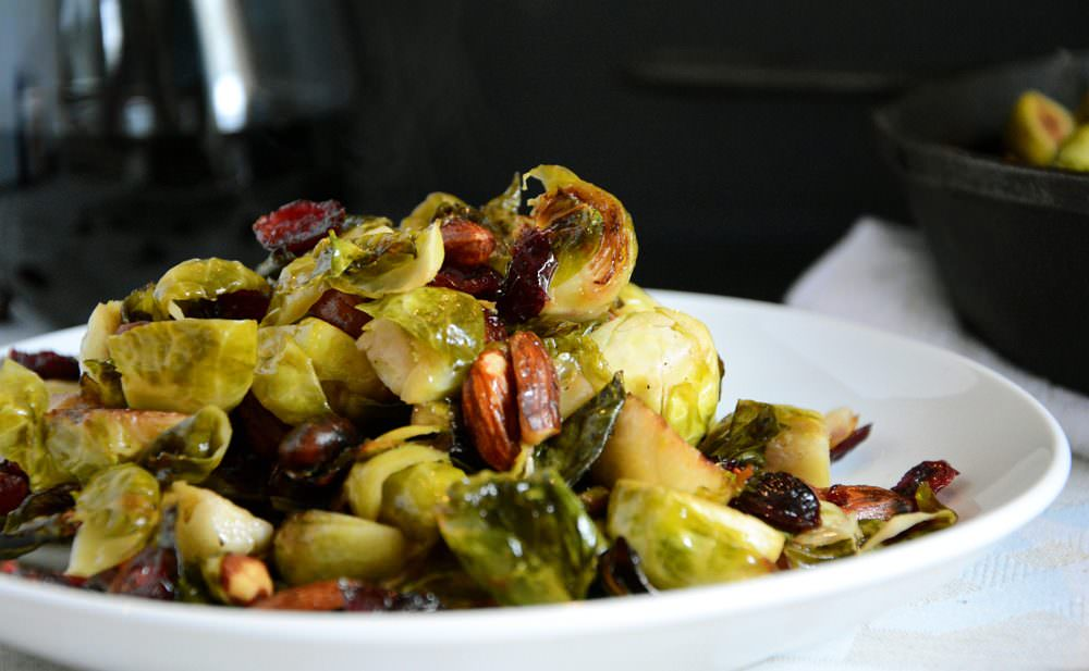 Cranberry & Almond Roasted Brussels Sprouts Salad