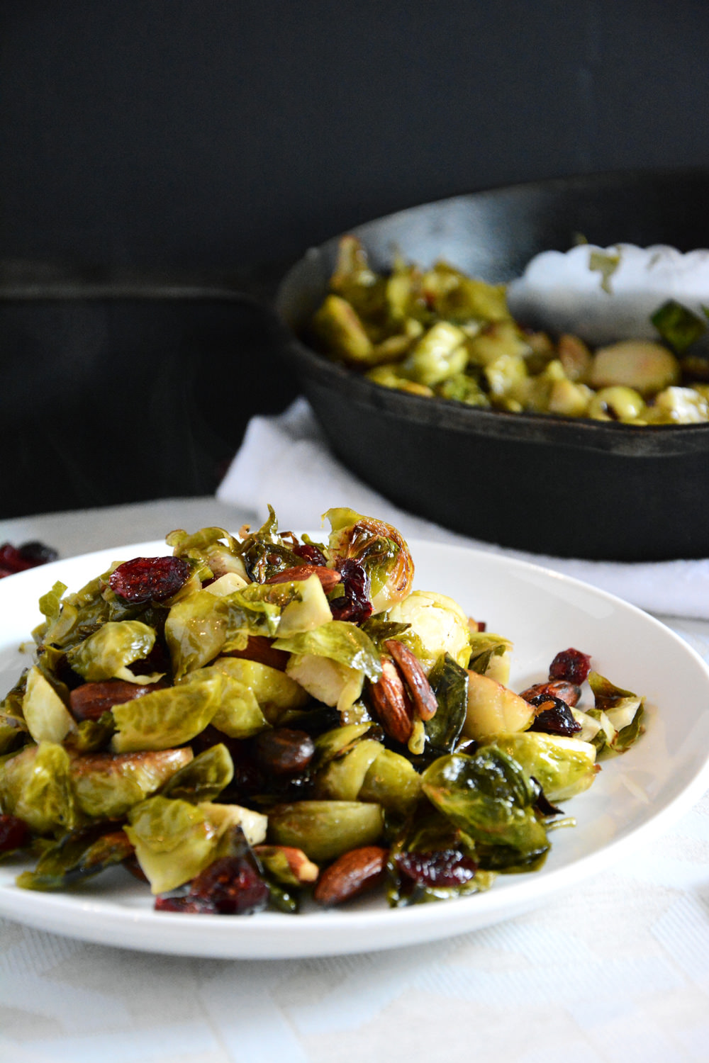 Cranberry & Almond Roasted Brussels Sprouts Antipasto Salad