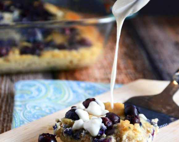 {Paleo} Blueberry & Coconut Coffee Cake Breakfast Bars