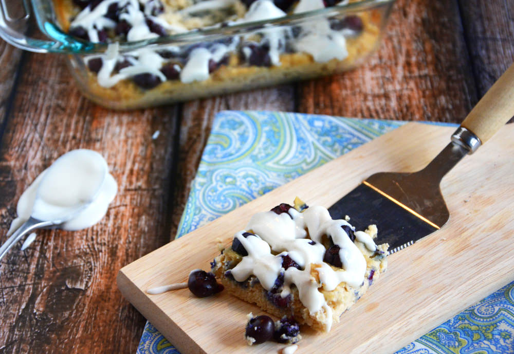 Blueberry Coconut Coffee Cake Snack Bars | The Housewife In Training Files