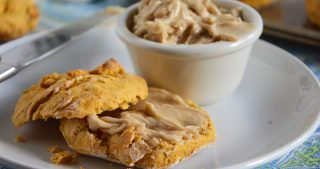 Sweet Potato Whole Wheat Biscuits with Cinnamon Maple Butter