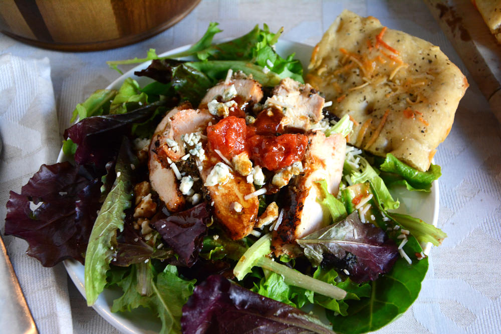 grilled chicken bruschetta salad megan yields 4 this grilled chicken ...