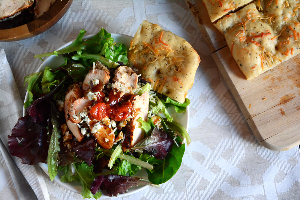 Grilled Chicken Bruschetta Salad | The Housewife in Training Files