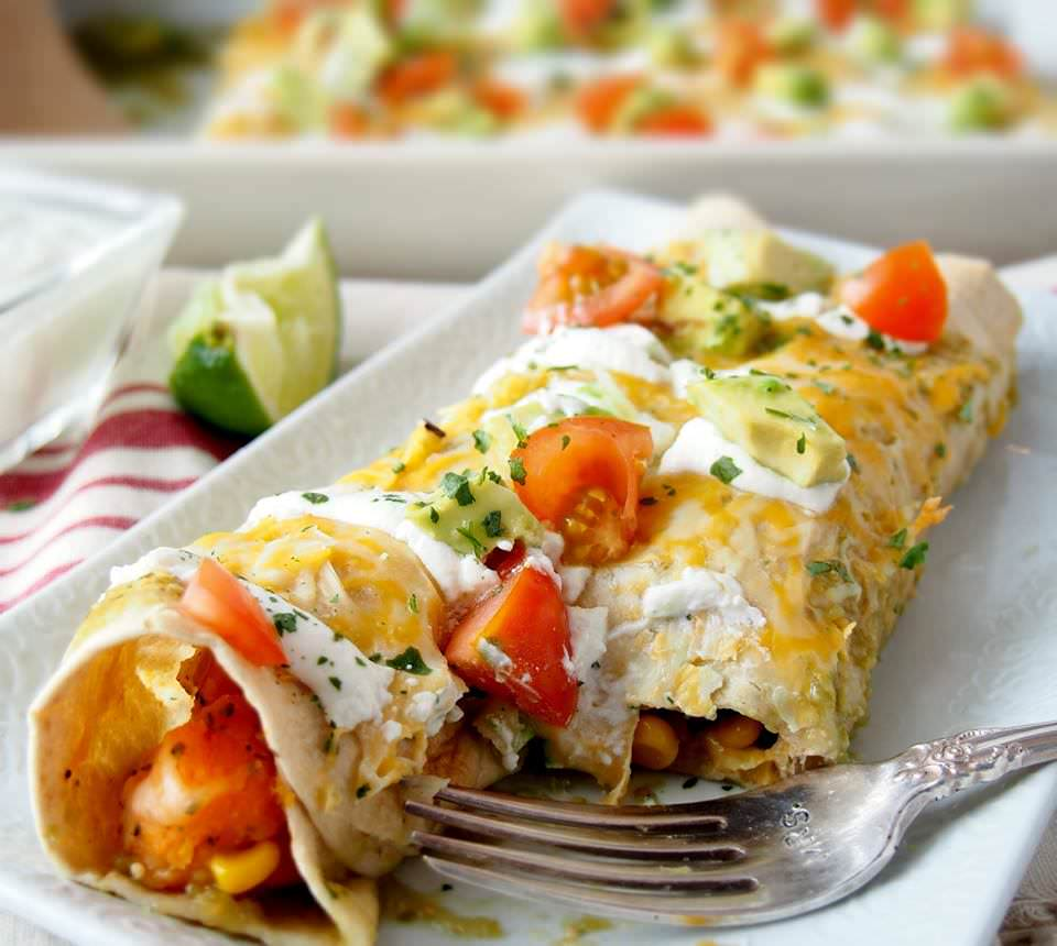 Chicken & Sweet Potato Enchiladas | The Cookie Rookie