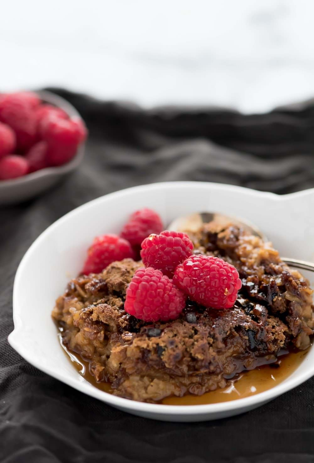 Healthy Baked Oatmeal Recipe, Casserole, Clean, Easy, Breakfast, Berry ...