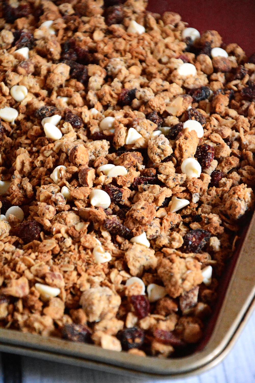 sweetened White Chocolate & Cranberry Quinoa Granola with tart ...
