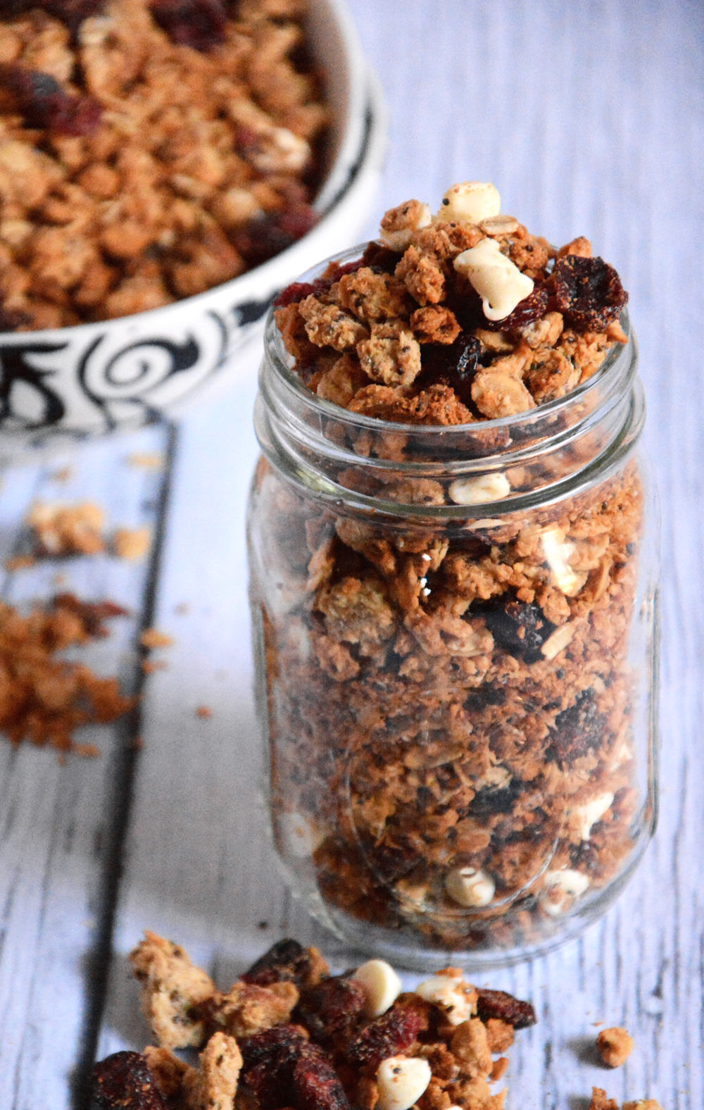 White Chocolate & Cranberry Quinoa Granola | The Housewife in Training Files