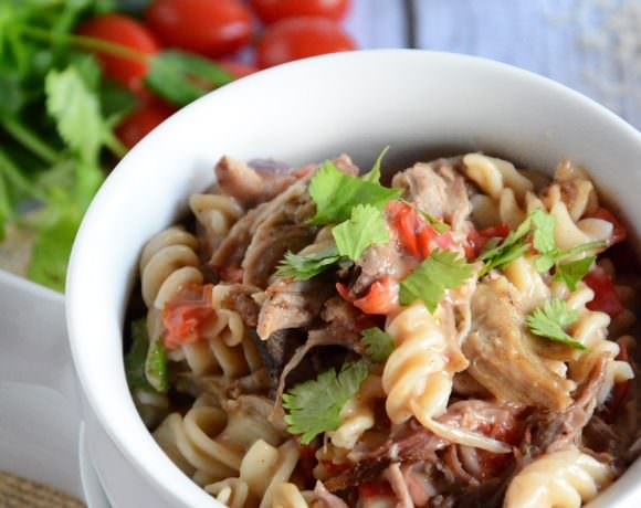 Skinny Cajun Alfredo Skillet with Pulled Pork