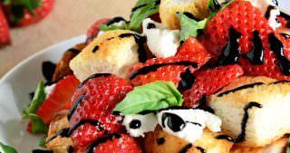 Honey & Strawberry Panzanella Salad