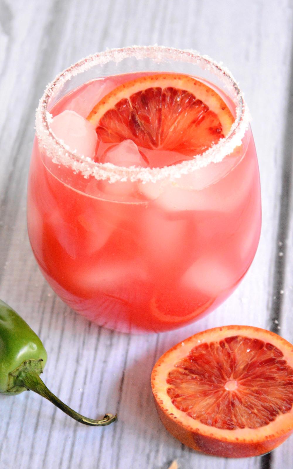 A refreshing twist on a classic margarita with fresh blood ...