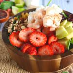 Strawberry-Almond Shrimp Salad with Blood Orange Vinaigrette | The Housewife in Training FIles