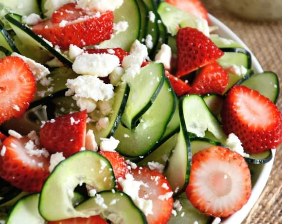 Strawberry Cucumber Salad with Poppyseed Dressing