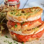 Parmesan Crusted Marinara Triple Grilled Cheese | The Housewife in Training Files