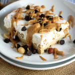 {Lighter} Peanut Butter Ice Cream Cake with Cookie Dough Crust | The Housewife in Training Files