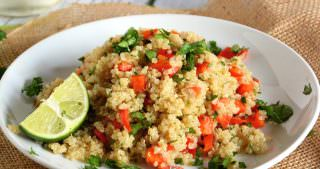 Red Pepper and Lime Quinoa Salad