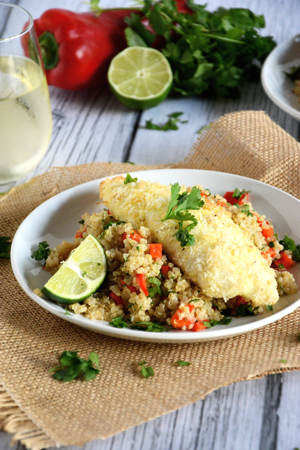 Tender tilapia filets with a sweet and spicy crust of macadamia nuts ...