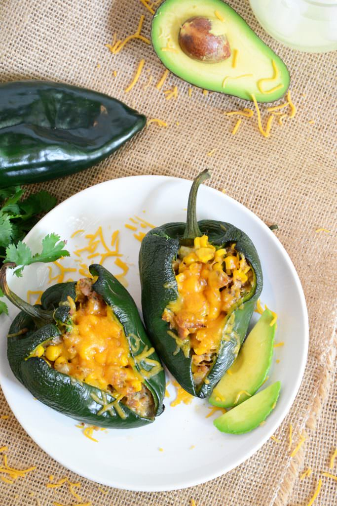 Corn-Stuffed Poblano Peppers | Healthy Mexican Recipes | Homemade Recipes
