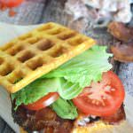 Cornbread Waffle BLT's with Garlic Aioli | The Housewife in Training Files
