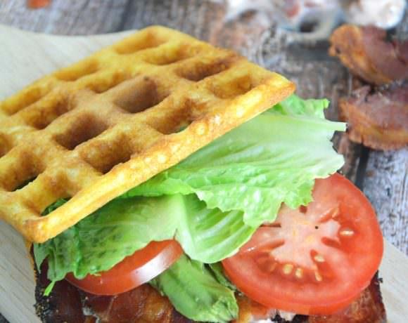 Cornbread Waffle BLT's with Garlic Aioli