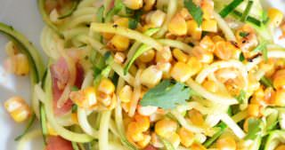 Zucchini & Roasted Corn Salad with Chili Lime Vinaigrette