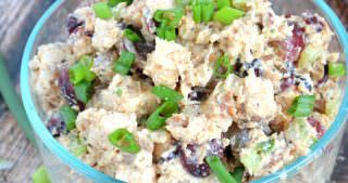 Momma's {Skinny} Pink Chicken Salad