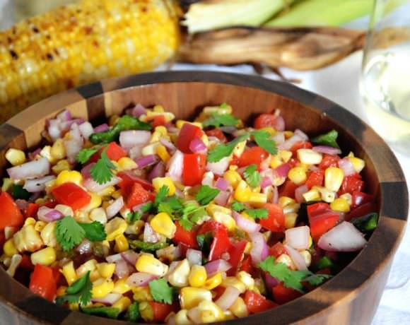 Fire Roasted Poblano & Corn Salsa