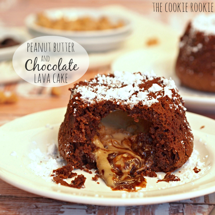 Chocolate Peanut Butter Lava Cakes | The Cookie Rookie