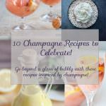 10 Champagne Recipes to Celebrate! | A Champagne recipe round up to go beyond your class of bubbly!