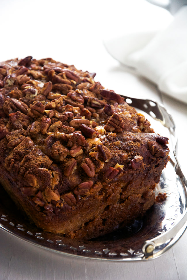 ... bread to welcome fall! Indulge with this healthier apple bread