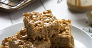 Pumpkin Pie Rice Krispies with French Toast Glaze