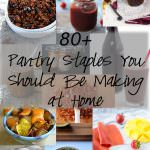 80+ Pantry Staples that you should be making at home! From peanut butter, ketchup, BBQ sauce, seasonings, dressing, pancake mix, to granola and snack bars!