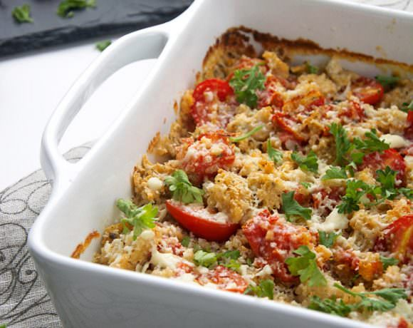White Pizza Quinoa Bake
