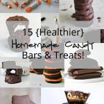 15 {Healthier} Homemade candy bars and treats are simple to make and taste just as delicious as your favorite store bought sweet! Everything from nutty Reese's cups to festive Oreo's, you are able to get in your kitchen and make your own favorite desserts, anytime of the year! #homemadecandy #desserts #chocolate
