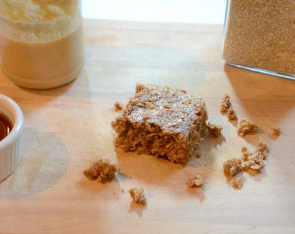 Banana Maple Peanut Butter Breakfast Bars