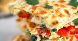 Smoked Gouda & Turkey Artichoke Quesadillas