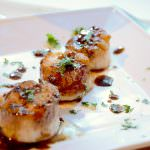 A simple glaze of soy sauce and balsamic vinegar overtop perfectly caramelized sea scallops. A restaurant quality dinner ready in minutes! #seafood #lowcarb #healthy #dinner